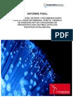 Informe ACTI Industrias Inteligentes Subtel Consolidacion Sintesis Recomendaciones Estudios Demanda Oferta y Modelo APP