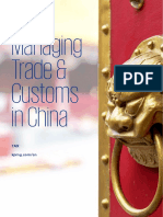 Managing Trade Customs China