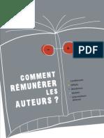 Comment Rémunérer Les Auteurs - Brochure