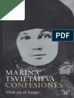 Tsvietaieva Marina - Confesiones Vivir En El Fuego.epub