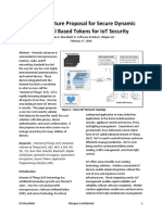 An Architecture Proposal for Secure Dynamic Temporal Based Tokens for IoT Security 02-17-2016