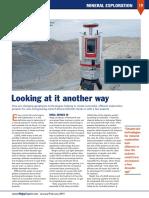nuevas tecnologías de exploración geológica