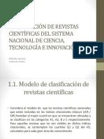 Clasificación de Revistas Científicas Del Sistema Nacional De
