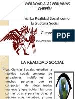 Realidad Social y Estructura Social