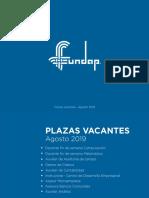 Plazas Vacantes Agosto 2019