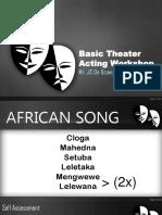 Basic Theater Workshop for Grade School