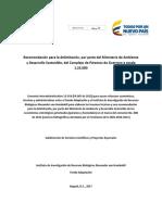 Recomendación para la delimitación, por parte del Ministerio de Ambiente y Desarrollo Sostenible, del Complejo de Páramos de Guerrero a escala 1:25.000