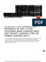 4. Estimation of Wing Loading and Thrust Loading
