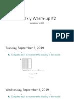 weekly warmup2 2020
