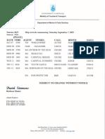 Weekly Shipping September 7 2019