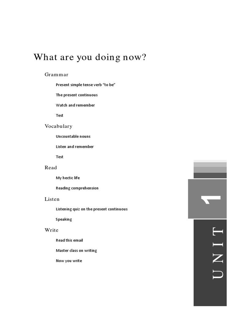 Units 1 16 Verb Adverb