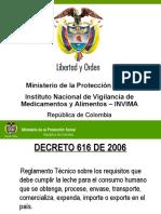 Decreto 616 Plantilla Invima Leche