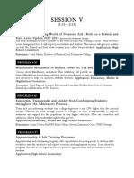 Web Descriptions Session V