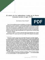 El Salario de Los Trabajadores Rurales en La Nueva Granada Durante El Siglo XVIII-Hermes Tovar Pinzon