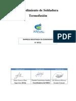 HSE-PR-005 - AV- Soldadura en Tuberia de Polietileno Termofusión