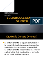 Cultura Occidental y Oriental