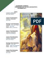 calendario liturgico jalapa