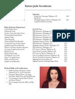 marissa goodstone acting resume 2019 website