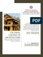 CULTURAL CONTEXT IN ARCHITECTURE
