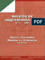 Boletin de Arquelologia PUCP No. 05 (2001) Número 05. Huari y Tiwanaku modelos vs. evidencias. Segunda parte 2.pdf