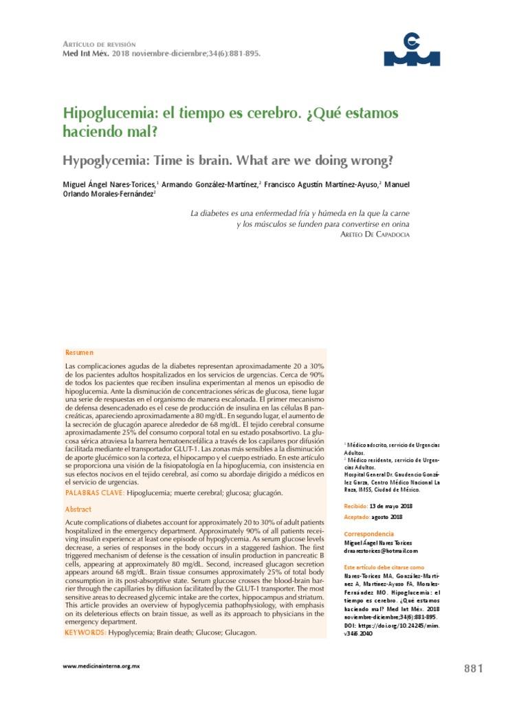 contrarregulación de glucosa defectuosa en diabetes tipo i