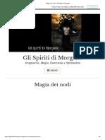Magia Dei Nodi – Gli Spiriti Di Morgana