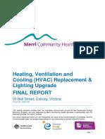 Ceep Merri Community Health Services Final Report