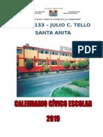 Calendario Civico Escolar - 2019 Tello