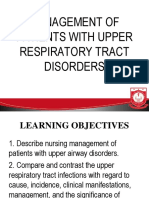 II. Upper Respiratory Tract Disorders