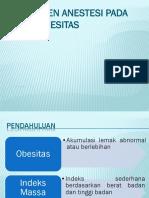 Manajemen anestesi obesitas