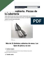 Tipos de Cubierto Piezas de La Cuberteria Uso de Los Cubiertos.html