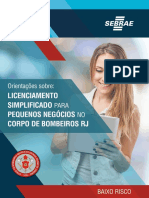 Folder Cartilha Bombeiros