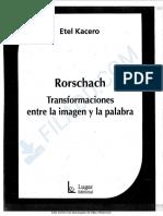 Kacero-Rorschach. Transformaciones entre la imagen y la palabra