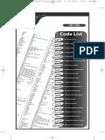 urc code list