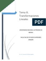 Transformaciones Lineales Agosto 2018