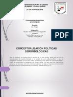 CONCEPTUALIZACIÓN POLÍTICAS GERONTOLÓGICAS