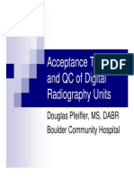 Acceptance Testing and QC of Digital Radiography Units
