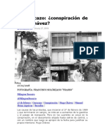 el caracazo, conspiración de Hugo Chávez