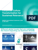 Corporate Culture Transformation for Sustained Relevance Rozana Yaakub