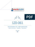 Z0 061 Oracle Database 12c SQL Fundament