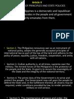 Article II 1987 PH Consti