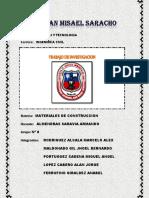 Trabbajo de Investigacion Materiales de Construccion
