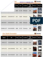 150901 Hexindo Stock Used Machine Info (Pattern a)