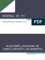Estatica - Diagramas Fuerza Cortante y Momento