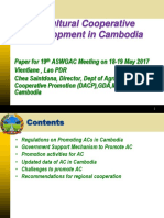 Annex 6 CAmbodia Agricutlural Cooperative Development for 19th ASWGAC Meeting 18-5-2017