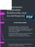 Link Between Stakeholder Relationship and Social Responsibility