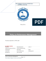 Policy on Performance Management