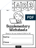 3rd(Sk)Year 3 Supplementary Worksheets