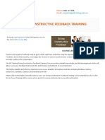 Giving Constructive Feedback Training Course Outline