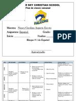 Plan Español 2019
